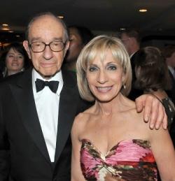 Алан Гринспен и Андреа Митчелл