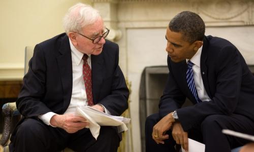Уоррен Баффет и Барак Обама