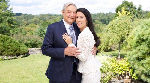 Джордж Сорос и супруга Болтон