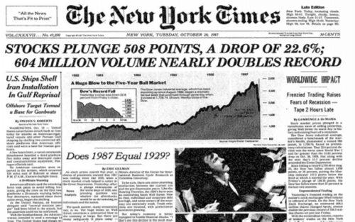 Биржевой крах 19 октября 1987 года
