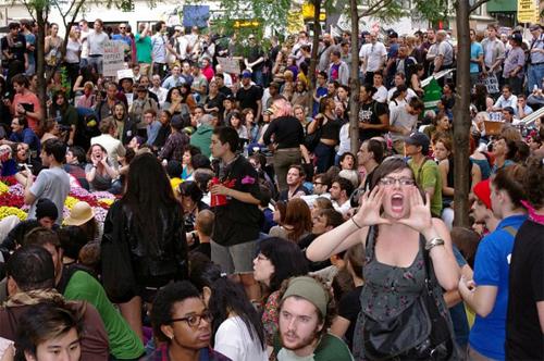 Демонстрации на Wall Street - Занять Уолл-Стрит