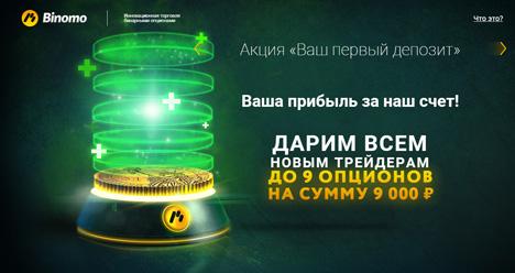 Бонусы от компании Binomo
